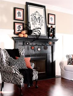 Halloween Mantel The Livable Version From Sarah MacKlem Interiors Blog Features HomeGoods