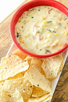 Grilled Corn and Poblano Queso Blanco (the dip queso blanco) Appetizer Dips, Appetizer Recipes, Snack Recipes, Cooking Recipes, Mexican Dishes, Mexican Food Recipes, Corn Recipes, Recipies, Tailgate Food