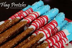 Flag Pretzels for Memorial Day & 4th of July!
