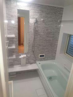 ユニットバス工事 Japanese Style Bathroom, Japanese Modern House, Bath Design, Bathroom Styling, Guest Bath, Basin, Toilet, House Plans, Bathtub
