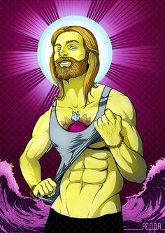 Jesus is my boyfriend. excellent illustration =)