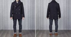 """heddels: """"Private White V.C. Manchester Wool Pea Coat - http://hddls.co/2xInQZi """""""