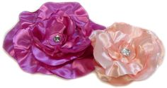 Large Peony and Organza Rose tutorial from Hip Girl Boutique