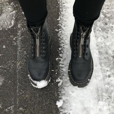 snow   dr. martens   shoes   boots   black   zipper   shop now   add to cart   styling   style Dr. Martens, Black Boots, Shoe Boots, Christian Louboutin, High Heels, Converse, Snow, Nike, Sneakers