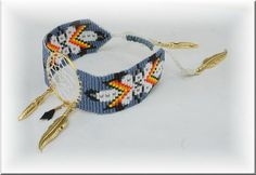 bracelet Loom attrape reve bleu 1