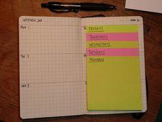diy planner idea