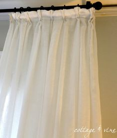 Cottage and Vine: How to Use Clips to Create Pinch Pleats