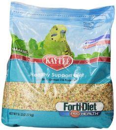 Kaytee Forti Diet Pro Health Food for Parakeet, 5-Pound…