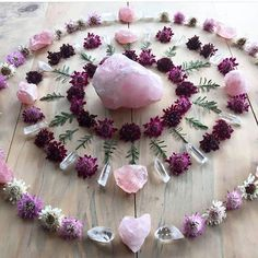 Craft of the Witch : Crystal Grid Mandala Crystal Magic, Crystal Grid, Crystal Healing, Crystal Mandala, Crystal Altar, Crystal Flower, Crystal Castle, Crystal Shop, Crystal Palace