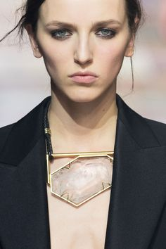 Rock Crystal Necklace - statement jewellery, runway fashion details // Lanvin Fall 2015