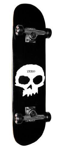 Zero Single Skull Complete, Black/White, 7.5-Inch Review - http://kcmquickreport.com/zero-single-skull-complete-blackwhite-7-5-inch-review/