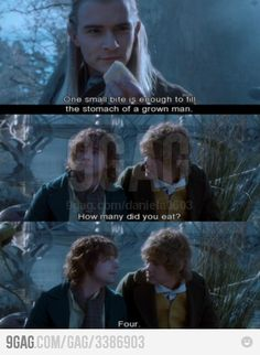 HAHA! That would be me! :D ~can't go wrong with lembas bread! YUM! pip is hilarious!