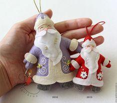 Купить Дед мороз и снегурочка из фетра - комбинированный, фетр, Новый Год, новый год 2016