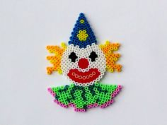 Clown perler beads