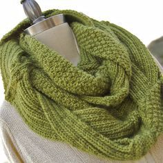 challah infinity scarf, knitting pattern - crafts ideas - crafts for kids