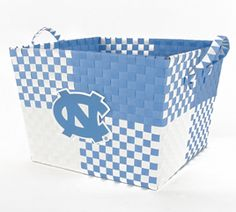 UNC woven basket...perfect for storing your Carolina Alumni Review magazines (http://alumni.unc.edu/CARcurrent/)!