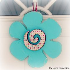 The Wood Connection - Flower Door Hang, $10.95 (http://thewoodconnection.com/flower-door-hang/)