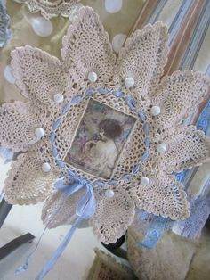Diy lace page tutorialeat tutorial on the steps she takes to vintage kitty gorgeous upcycled stripes spots and panels sky blue mustard roses mother of pearl laces shabby chic skirt small solutioingenieria Image collections