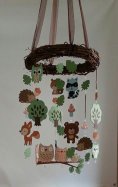 Forest Woodland Critter Forest Animal Baby Mobile by magicalwhimsy
