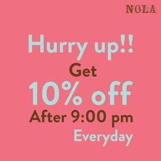 Good things happen everyday after 9 PM at NOLA! Like getting a 10% discount ;) #NOLAnights #NOLACupcakes #happiness