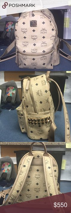 New 100% authentic mcm mini stub backpack . New 100% authentic mcm mini stub backpack . Comes with dustbag and original ID cards  and tag . Was bought from Bloomingdales retail $670 MCM Bags Backpacks