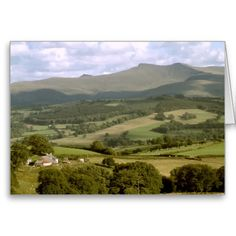 Pen y Fan and Criben, Brecon, Wales Card