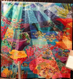 The Great Barrier Reef by Miki Murakami See the little fish?  If you look closely, you can see Kaffe Fassett's fabrics too.