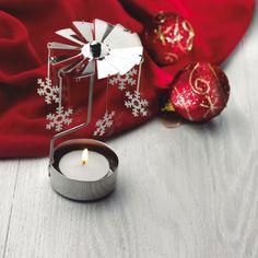 Lumanare carusel - 21 LEI     Adu-ti aminte de copilarie! Odata ce aprinzi lumanarea, caldura degajata de flacara acesteia se va ridica si va invarti rozeta metalica de care sunt prinse cele sase stelute de forma fulgilor de nea. Carusel, Lei, Tea Lights, Xmas, Candles, Tea Light Candles, Christmas, Weihnachten, Jul