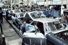 The MG-B GT, production line at Abingdon, England. British Aerospace, Mg Cars, Assembly Line, British Sports Cars, Car Car, Motor Car, Cars And Motorcycles, Luxury Cars, Cool Cars