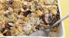 This hearty dinner has it all – chicken, mushrooms, wild rice and Progresso® broth baked in a delicious meal.