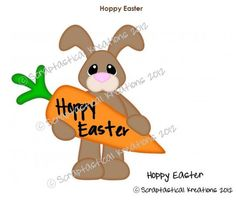 Hoppy Easter Title Paper Piecing Borders Card by AlwaysAStory, $4.99