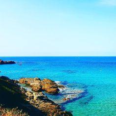 #corsica #corse #beach #travel #plage #sagone #sun #sand #rock #blue