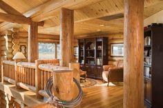 : Milled Log Homes » Utah Milled Log Home » Utah Milled Loft