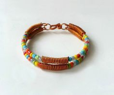 Wire and Seed Bead Bracelet