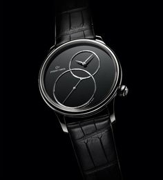 Noir intense pour la montre Grande Seconde Décentrée Onyx de Jaquet Droz  #montre #watch #baselworld
