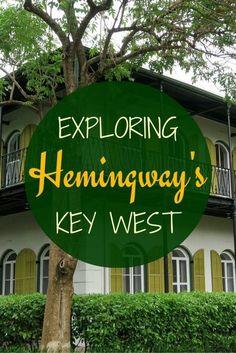 Touring Ernest Hemingway's Key West with visits to Blue Heaven Hemingway House Key West Lighthouse Sloppy Joe's Bar and Casa Antigua. The Florida Keys Florida Florida Vacation, Florida Travel, Travel Usa, Florida Trips, Florida 2017, Canada Travel, Key West Vacations, Dream Vacations, Key West Cruise
