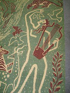 Mid Century Modern Victor Vicke Lindstrand Tapestry by Elsa Gullberg 1944 Danish Mid Century Art, Science Art, Tapestries, Art Forms, Textile Art, Danish, Mid-century Modern, Needlework, Elsa