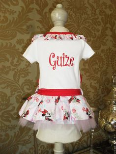 Personalized Dog Dress with Minnie Mouse by littleblessings99, $35.00