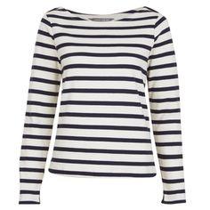 Long Sleeve Breton Stripe Top