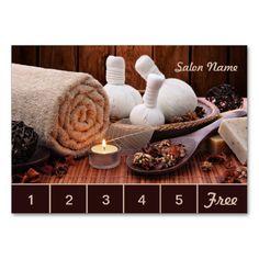 Spa & Massage Salon Loyalty Card / Punch Card Large Business Card