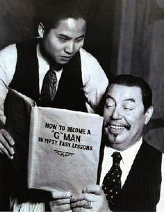 A promotional shot with Warner Oland