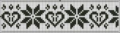 Border 30 | Free chart for cross-stitch, filet crochet | Chart for pattern - Gráfico