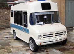 Ice cream truck van