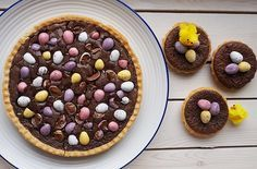 Mini Egg Brownie Tart or Tartlets