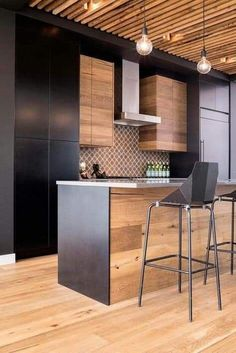 Kitchen Interior Gallery of / Building Bloc design - 12 - Image 12 of 23 from gallery of / Building Bloc design. Photograph by Jared Sych Home, Home Kitchens, Kitchen Remodel, Kitchen Design, Kitchen Dining Room, Interior, Home Decor Kitchen, Kitchen Interior, Modern Kitchen Design