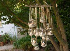 chandelier in the garden, gardening, outdoor living