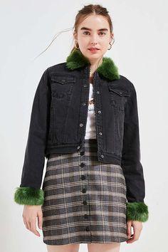 UNIF Daria Fuzzy Denim Jacket