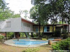 "Royan - Villa ""La Rafale"" or ""Boomerang"" Architect: Pierre Marmouget Construction: 1955 - 1959"