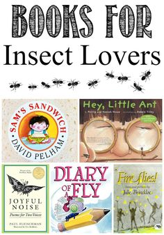 Books for Insect Lovers - Do your kids love bugs? If so, then you need to get your hands on these books for insect lovers. Believe it or not, these slippery, crawling, and inching bugs give kids the opportunity to learn through digging in the dirt and overturning rocks. It gives them a way to explore and learn with very little to no help from parents. Wiggly worms and squirmy bugs are a ton of fun…. even if you need to get past the ew factor first!