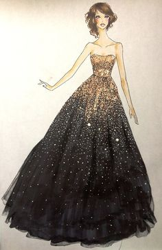 Fashion Drawing I love this!i want it for prom! gold and black ball gown; Fashion Illustration Sketches, Fashion Design Sketches, Fashion Drawings, Fashion Designers, Dress Illustration, Fashion Sketchbook, Disney Fashion Sketches, Manga Illustrations, Sketch Fashion